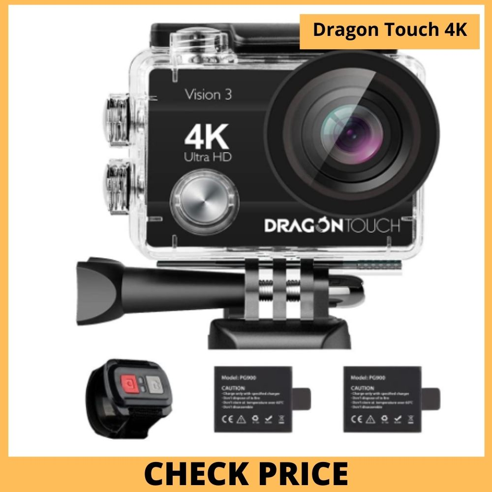 Dragon Touch 4k motorcycle helmet camera