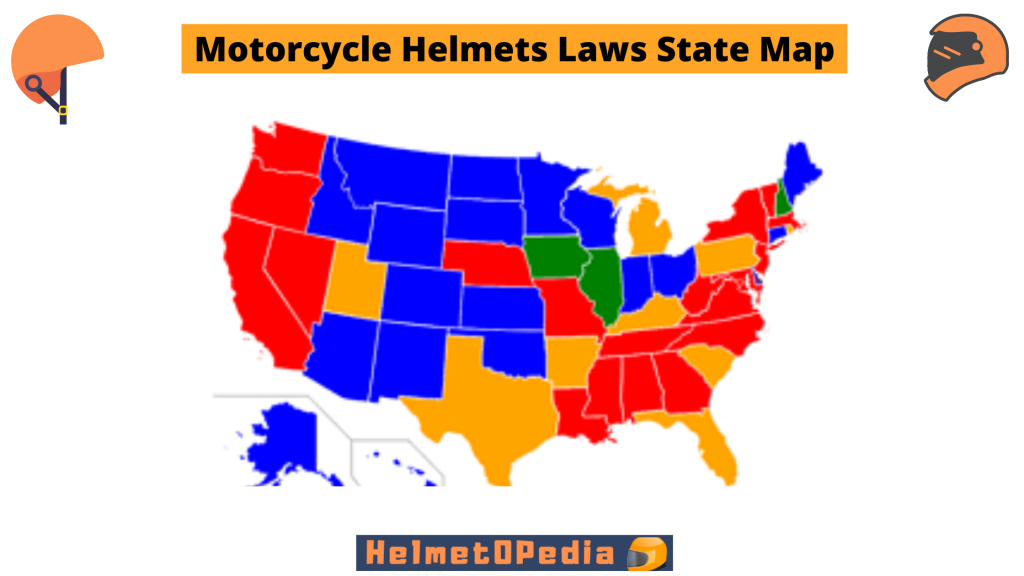 motorcycle laws state map