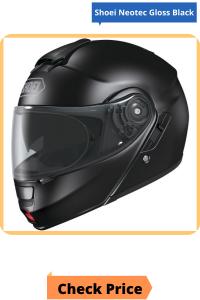 Shoei Neotec Gloss Black Modular Helmet PNG